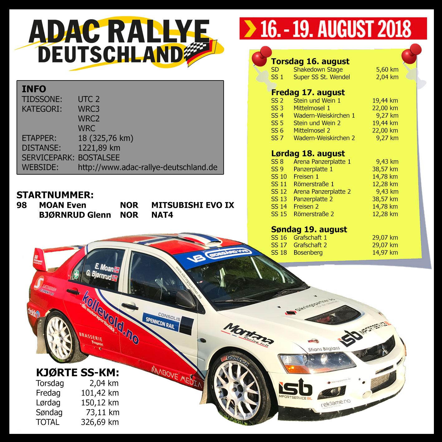 Klare for ADAC Rallye Deutschland